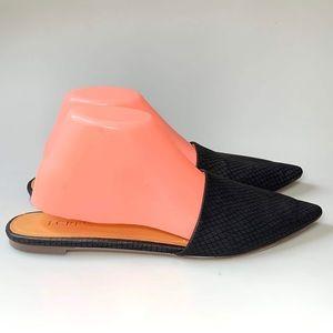 J Crew Mules Shoes Black Flats Slip On Sz 9 Black